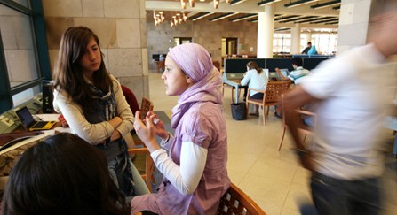 The library at the American University of Cairo, which aspires to teach students new ways to learn and to think for themselves.