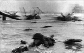 """Omaha Beach, Normandy, France"" Robert Capa, 1944"