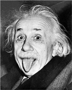 """""""Einstein with his Tongue Out"""" Arthur Sasse, 1951"""